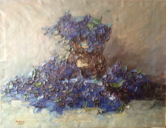 Vas cu violete P Bulgaras